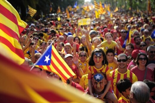Испания: протесты сторонников независимости Каталонии