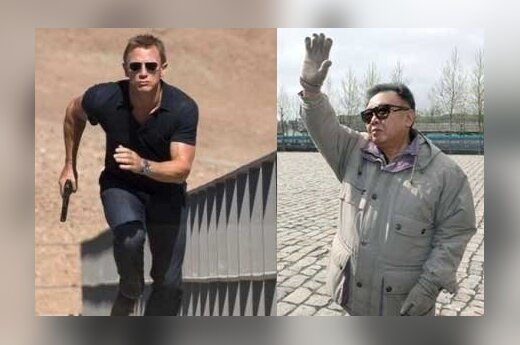 Džeimso Bondo herojus ir Kim Jong Ilas, AP/Reuters nuotr.
