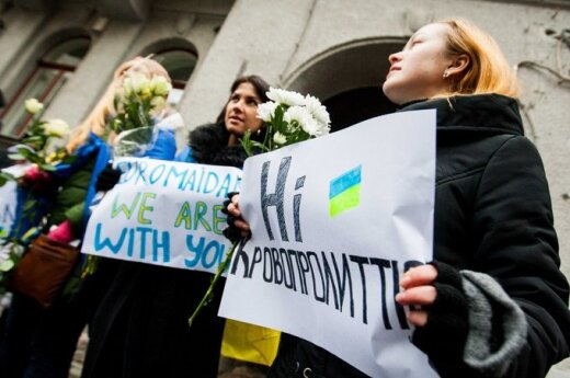 В Вильнюсе - отголоски протестов на Украине