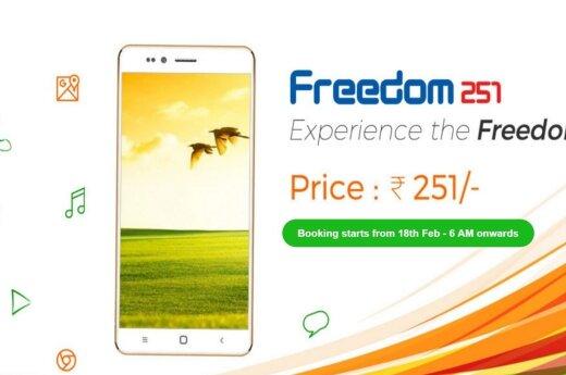 """Pigiausias pasaulio telefonas  """"Freedom 251"""""""