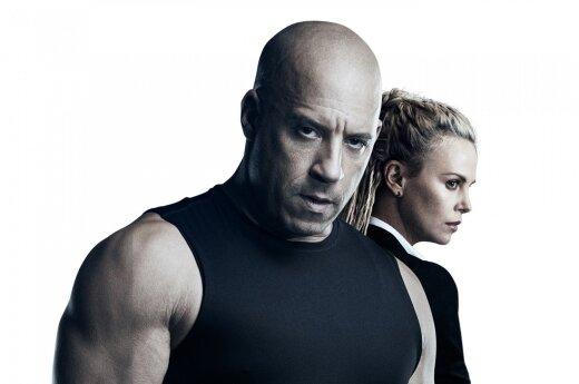 """Filmas """"Greiti ir įsiutę 8"""", Vin Diesel ir Charlize Theron"""
