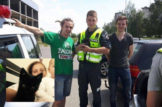 Policijai teko gelbėti neįprastą nukentėjusįjį