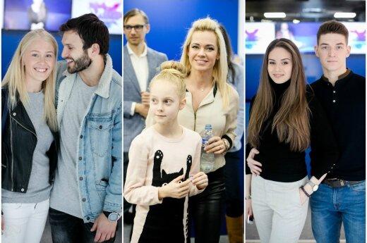 Vaidas Baumila su mylimąja, Ingrida Martinkėnaitė, Agnė Kavaliauskaitė su sužadėtiniu šokėju Tomu Legenzovu