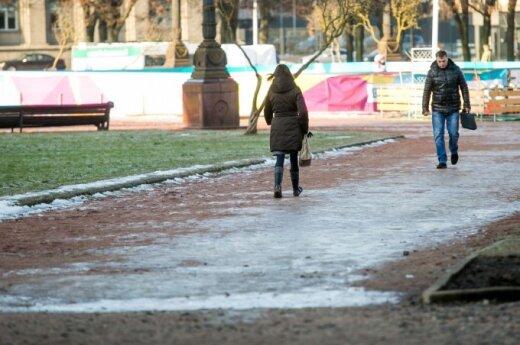 Центральная площадь Вильнюса: ни пройти, ни проехать
