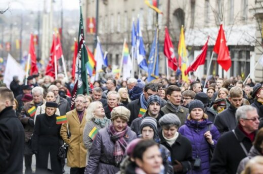 Thousands take part in Lithuania's 25th independence anniversary march in Vilnius