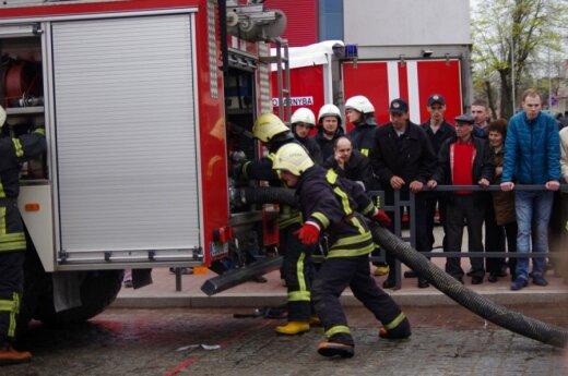 Kodėl į Marijampolę atvyko ugniagesių iš visos Lietuvos?