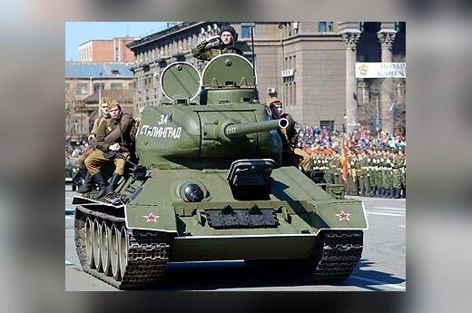 Tankas T-34 kariniame parade Maskvoje
