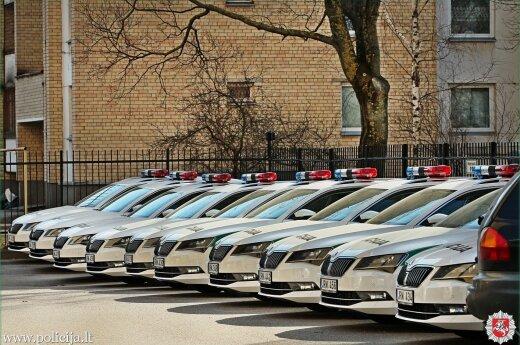 Lithuanian police car park