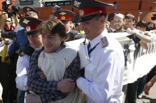 """Maskvoje suimami nesankcionuotos akcijos """"Rūstybės diena"""" dalyviai"""