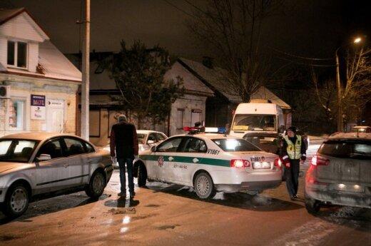 Массовая авария в Вильнюсе: водитель пытался скрыться и дрался в полицией