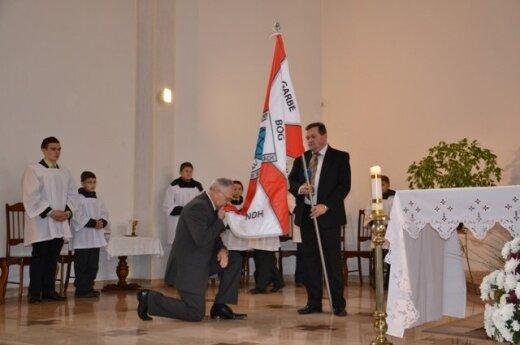 Inauguracja Gimnazjum im. Stanisława Moniuszki w Kowalczukach, fot. samorząd rej. wileńskiego