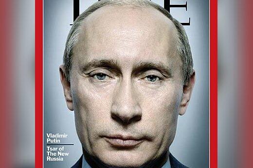 """Vladimiras Putinas žurnalo """"Time"""" viršelyje"""