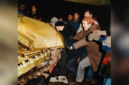 Sausio 13-ąją - akistata su rusų tanku