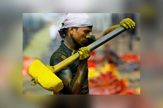 Dažų gamyba, darbas