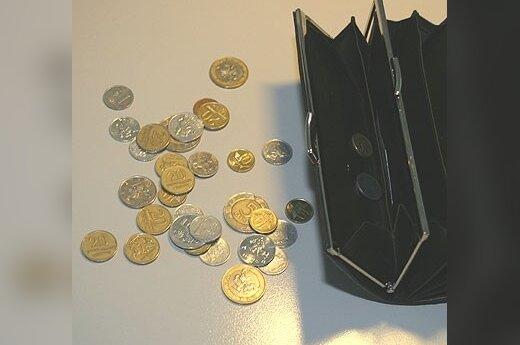 Pinigai, litai, centai, piniginė
