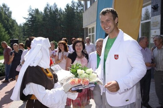 Висагинас проводил гребца Шуклина на Олимпийские игры в Лондон