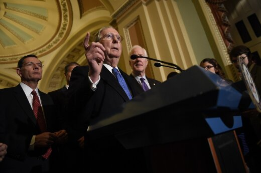 Respublikonų JAV Senato lyderis Mitchas McConnellas