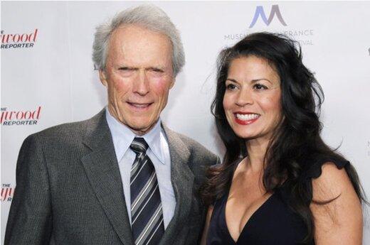 Clintas Eastwoodas ir Dina Ruiz Eastwood