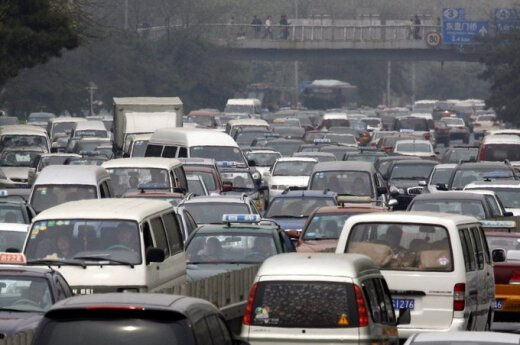 Kinijos transporto spūstis