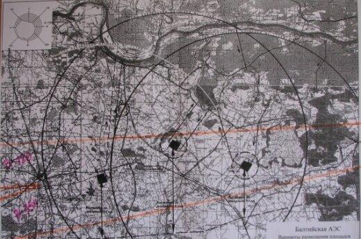 Kaliningrado AE žemėlapis. antiatom.ru