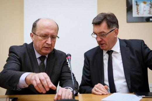 Conservative leader Andrius Kubilius and Social Democratic leader Algirdas Butkevičius