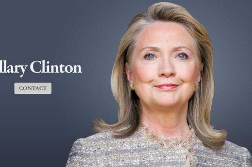 Naujos Hillary Clinton interneto svetainės atvaizdas