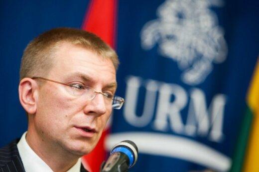 Latvia's Foreign Minister Edgars Rinkevics