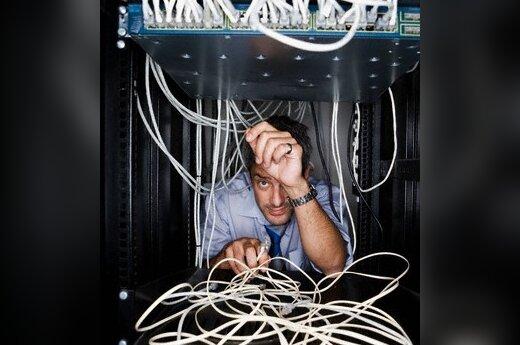 Serveris, laidai, programinė įranga, susipainiojimas