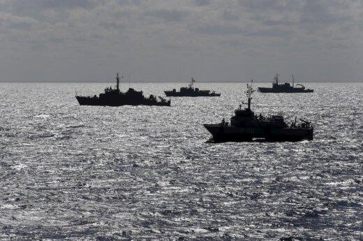 Lietuvos išskirtinėje ekonominėje zonoje – Rusijos laivyno veiksmai