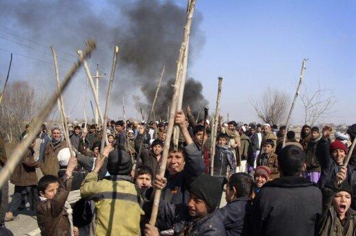 Afganistaniečių protestas prieš sudegintą Koraną