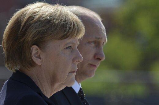 A. Merkel susitiko su V. Putinu