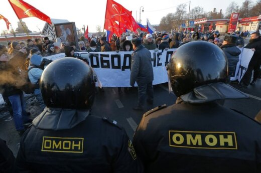 На Лубянке задержали Удальцова, Яшина и Собчак