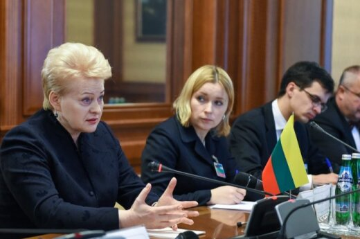 D. Grybauskaitė in Kyiv