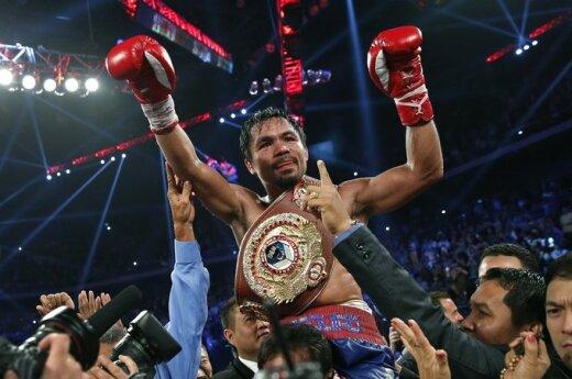 Filipinų bokso legenda Manny Pacquiao lengvai nugalėjo amerikietį Brandoną Riosą