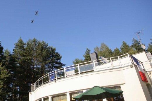 Military jets over French ambassador's residence in Vilnius