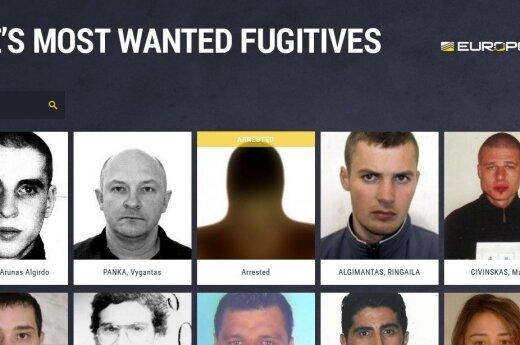 Europos labiausiai ieškomų nusikaltėlių sąraše lietuvių pavardės kinta, bet pozicijos neužleidžia