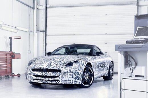Jaguar показал первую фотографию спорткара F-type