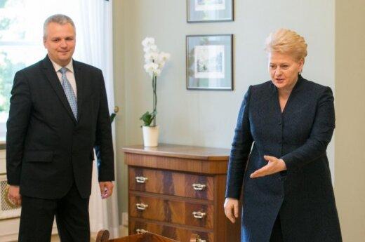 Vigilijus Jukna and Dalia Grybauskaitė