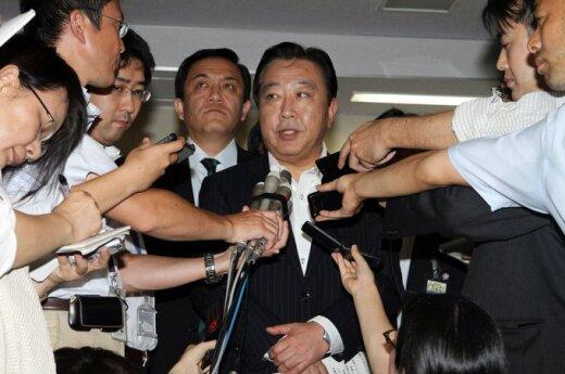 Japonijos finansų ministras Yoshihiko Noda atsakinėja į žurnalistų klausimus