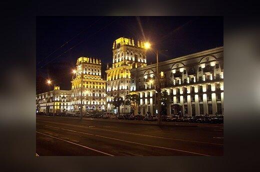 Minskas naktį. Udriaus Armalio nuotr.