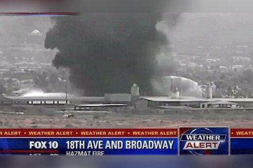 В США загорелся химический склад: в Финиксе взрывы и небывалый пожар