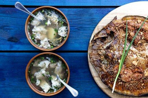 Lithuanian nutritionist showed Alaskans how to make fish soup