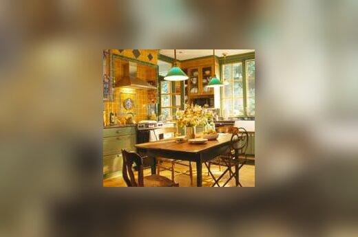 Virtuvė: eklektiškas stilius