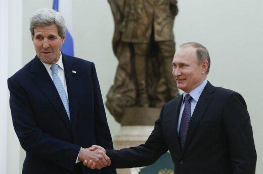 Vladimir Putin and John Kerry