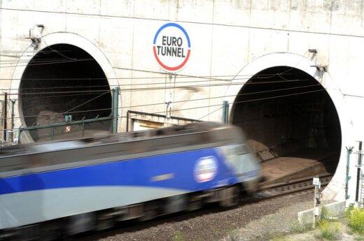 Dėl elektros gedimo Eurotunelyje sustabdytas traukinių eismas
