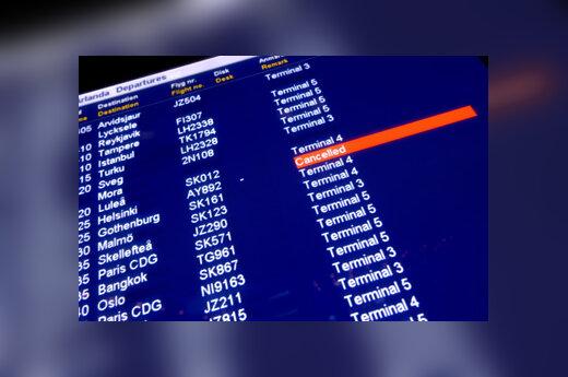 Oro uostas, atidėti skrydžiai