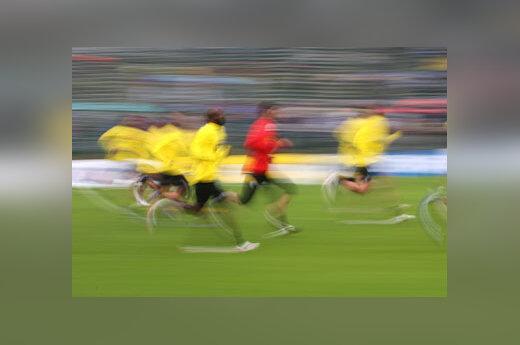 Futbolininkų treniruotė