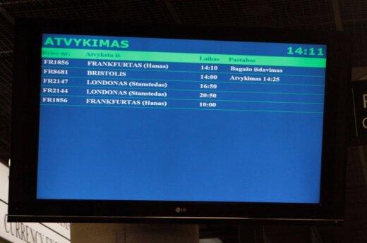 Sugrįžusius emigrantus Kauno oro uoste pasitiko orkestras