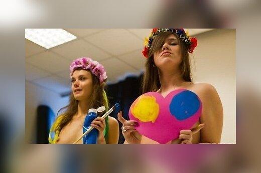 """Femen напечатали """"валентинки"""" своими разными местами"""