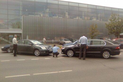 В аварию попал автомобиль президентской канцелярии